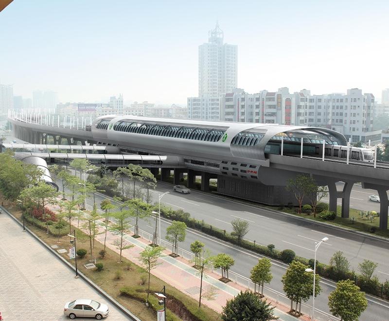 深圳地铁11号线   手动中悬窗