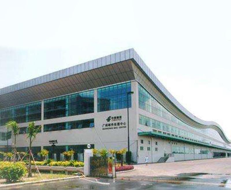 中国邮政物流广州邮件处理中心  电动曲臂式中悬窗